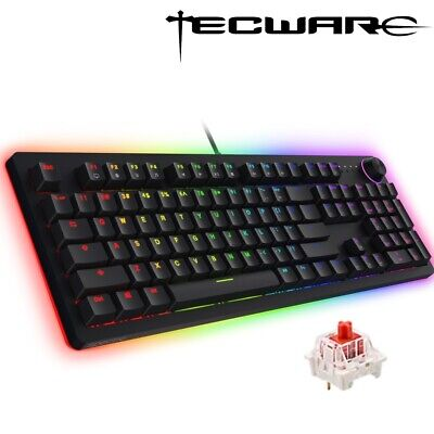 AU65.95 • Buy Tecware Spectre Pro RGB Wired Red Switch Mechanical Gaming Keyboard