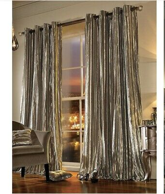 Kylie Minogue Iliana Lined Eyelet Curtains Parline 66x72 Inches 168x183cm • 40£