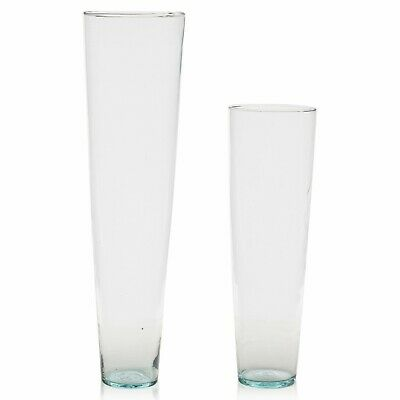 £13.99 • Buy 70cm/50cm Tall Clear Recycled Large Glass Flower Vase Wedding Decor Home Party
