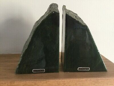 Nephrite Jade Natural Stone Bookends British Columbia Jade • 125£