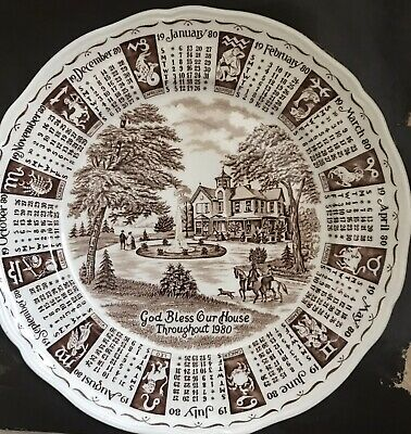 £4 • Buy Ringtons Collectables Calander Plate 1980, Still Boxed, Excellant Condition