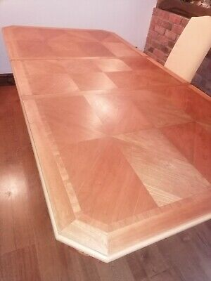 Superb Art Deco / Modernist   Dining Table With Marquetry Solid Wood. • 100£
