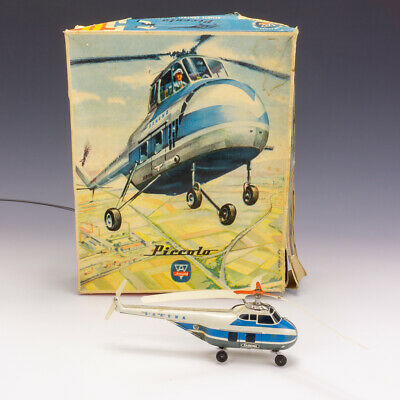 Vintage Arnold Toys Piccolo Tin Plate Remote Control Helicopter - Boxed! • 26£