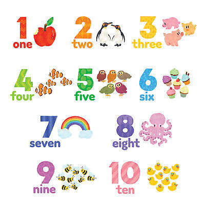 £11.95 • Buy Decowall DWL-2020 Numbers Wall Stickers Decal Nursery Kids Removable
