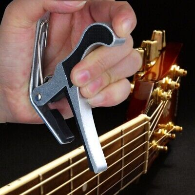 $ CDN8.83 • Buy Quick Change Tune Clamp Key Capo For Acoustic Electric Classical Guitar Silver