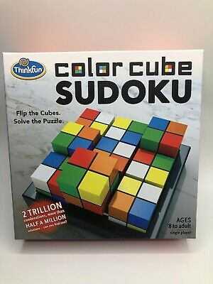 New ThinkFun Color Cube Sudoku Award Winning Flip Cubes Puzzle • 2.47£