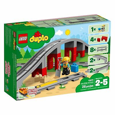 AU52.68 • Buy Lego 10872 DUPLO Town Train Bridge And Tracks New With Sealed Box