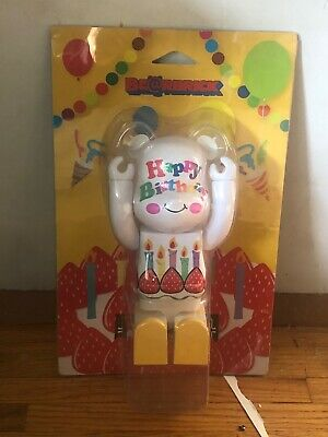 $167 • Buy White Happy Birthday Bearbrick 400% Collectible Toy In Box