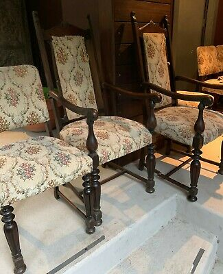 AU45 • Buy Antique Dining Chairs (6 In Total)