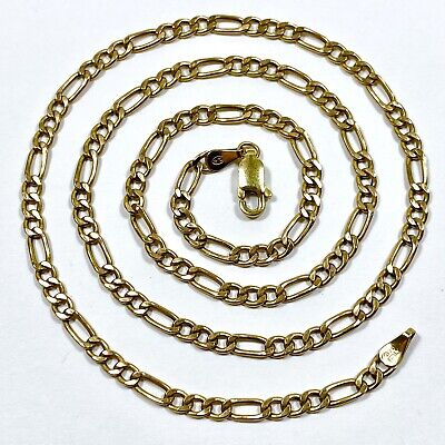 AU245 • Buy 9ct Yellow Gold Necklace Chain 46cm Hollow Links