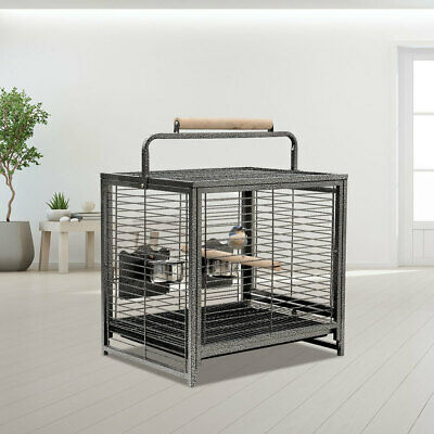 £52.95 • Buy Portable Metal Bird Cage Canary Budgie Cockatiel Parrot Travel Carrier W/ Handle