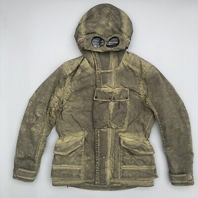 Cp Company Nycra Re Colour Goggle Jacket Green RRP £855 Osti Casuals • 545£