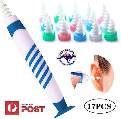 AU16.78 • Buy 17PCS Ear Wax Removal Remover Tool Ear Cleaner Q-Grips With Sucker Bottom AU