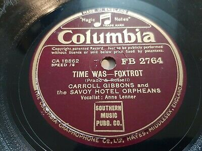 78rpm: Carroll Gibbons & The Savoy Hotel Orpheans – Elmer's Tune 1942 Jazz VG+ • 6£