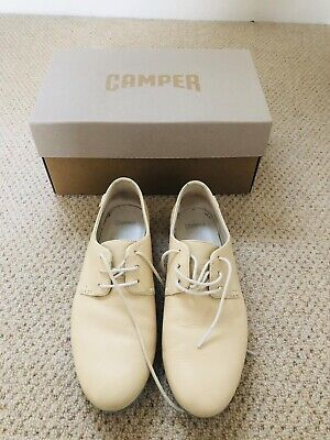 £20 • Buy CAMPER Cream Lace-up Leather Ladies Shoes, Size UK 4, EU 37