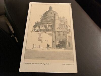 Vintage Postcard - The Camera From Brasenose College Oxford Fred Richards R E S5 • 0.65£