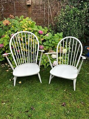 1 Vintage Ercol Windsor Fireside Grandfather Armchair Retro Midcentury Design • 160£