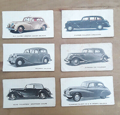 Kelloggs Cars 1940's Cards - 6 Off. Numbers  21, 22, 23, 24, 25 & 26  • 7£