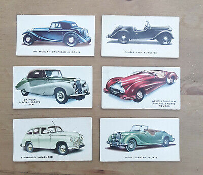 Kelloggs Cars 1940's Cards - 6 Off. Numbers 2, 4, 10, 15, 38 And 39.  • 7£
