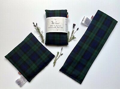 WHEAT BAG'BLACK WATCH TARTAN'Microwave/Chill -2 Sizes - WITH LAVENDER-IDEAL GIFT • 11.95£