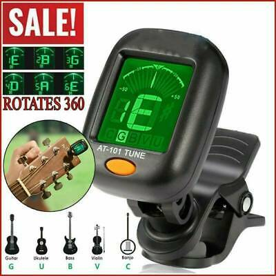 AU4.44 • Buy Lcd Electric Clip On Chromatic Acoustic For Guitar Bass Ukulele Banjo Tuner US