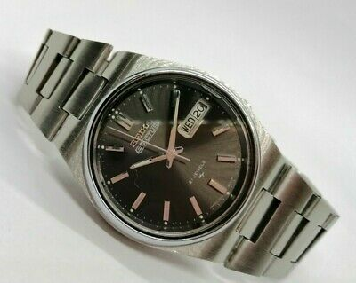 $ CDN89.30 • Buy Genuine Vintage Seiko-5 Automatic Day & Date Made In Japan Men's Wristwatch