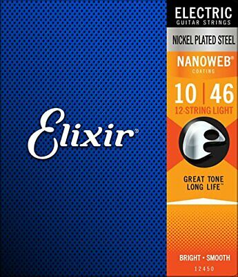 $ CDN45.64 • Buy Elixir Electric Guitar Strings NANOWEB 12 String Light .010-.046 # 12450 New