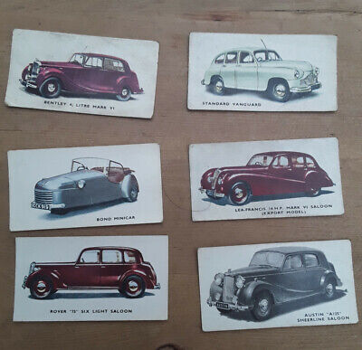 Kelloggs Cars 1940's Cards - 6 Off. Numbers 1, 2, 27, 28, 30, 35  • 7£