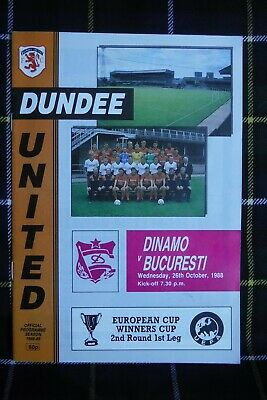 Dundee United V Dinamo Bucharest European Cup Winners Cup 2nd Round 1988 • 1.49£