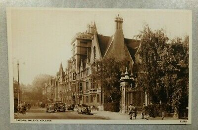 Oxford University Postcard: Balliol College. Photochrom Churchill Quote Unposted • 1.80£