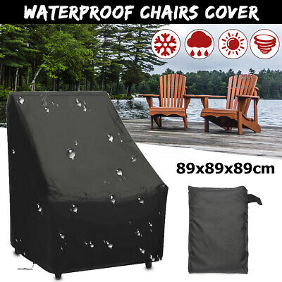 AU20.37 • Buy 35  Waterproof Stacking Chair Furniture Cover High Back Outdoor Patio