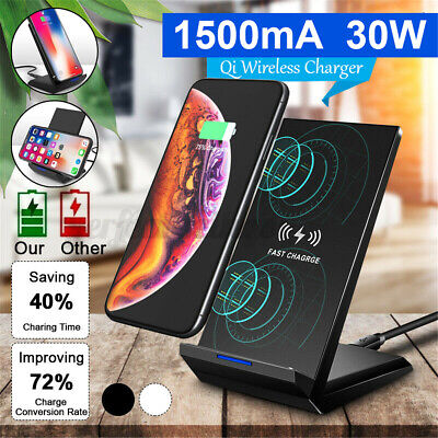 AU19.04 • Buy 30W Fast Qi Wireless Charger Charging Dock Stand For IPhone 12 Pro Max XS 11