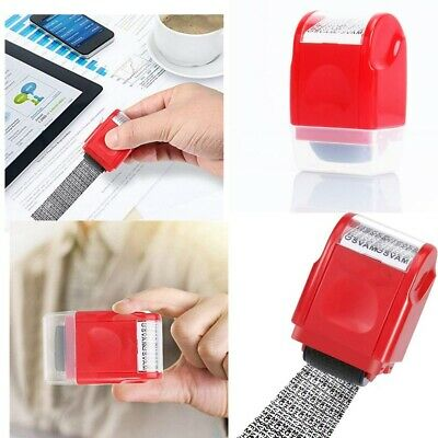 ID Protection Roller Stamp Identity Theft Confidential Privacy Data Security 1PC • 4.75£