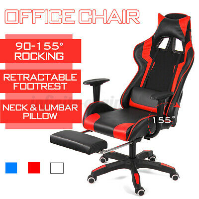 AU128.59 • Buy Racing Gaming Office Chair Ergonomic Executive Computer Dest Seat Chair Recliner