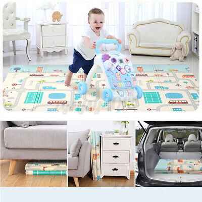 £20.99 • Buy 2 Sides Cartoon Baby Mat Kid Crawling Play Pad Soft Foam Foldable Carpet Gift