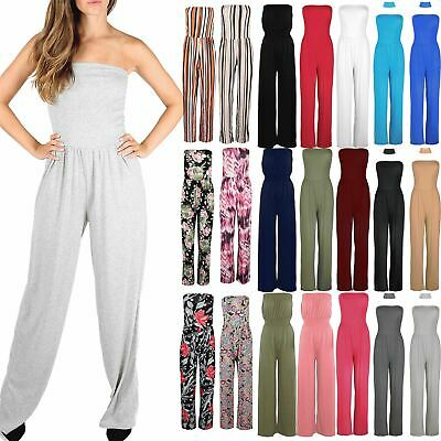 £5.49 • Buy Womens Ladies All In One Boobtube Wide Leg Palazzo Playsuit Jumpsuit Plus Size