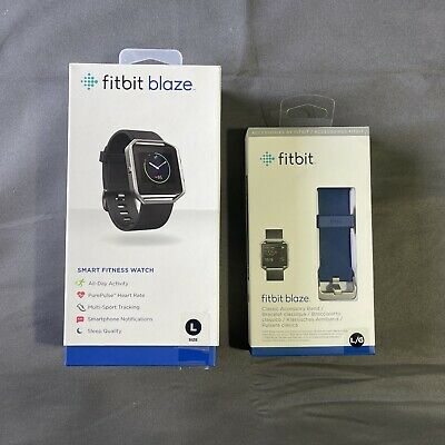 $ CDN151.48 • Buy Fitbit Blaze Smart Fitness Watch Stainless Large With Box, Charger, & Extra Band