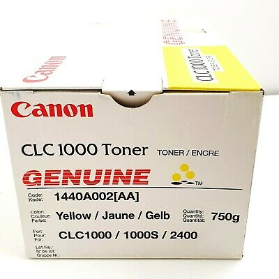 £25 • Buy Canon CLC1000 YELLOW TONER For 1000 S 2400 - 1440A02 750g Net Wt GENUINE