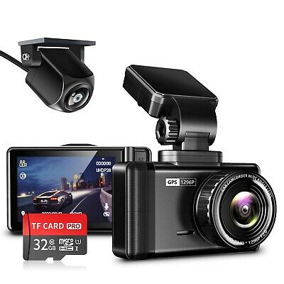 AU220.47 • Buy JOMISE Dash Cam For Cars Front And Rear 1296P & 1080P FHD Dual Dash Camera Wi...