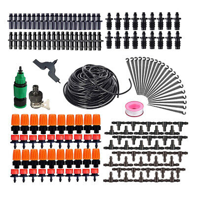 15M Automatic Drip Irrigation System Kit Plant With Watering Garden Hose New • 8.29£