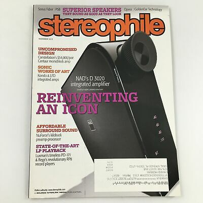 £9.77 • Buy Stereophile Magazine November 2013 NAD's D 3020 Integrated Amplifier