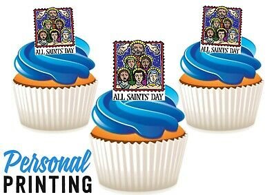 £2.79 • Buy ALL SAINTS DAY SIGN - 12 Edible Cupcake Toppers Love Religious