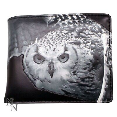 Black And White Embossed Owl Wallet • 34.99£