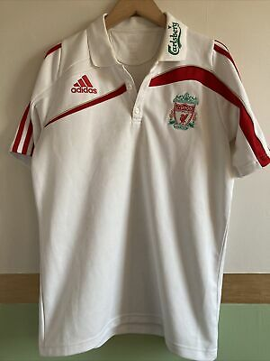 Mens White Liverpool FC Football T Shirt Adidas • 2.99£