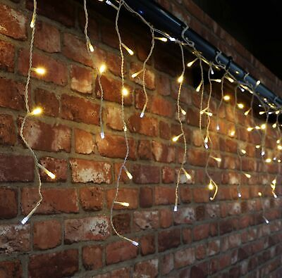 960 Warm White & White Twinkling LED Icicle Lights With Timer (22.9m Length) ... • 110.99£