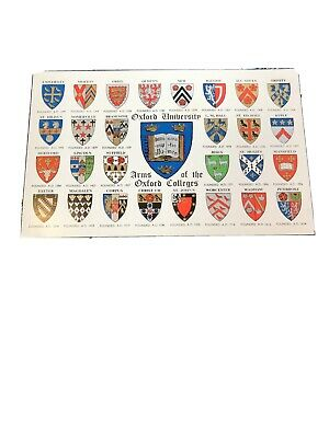 Salmon Postcard Arms Of The Oxford Colleges • 0.79£
