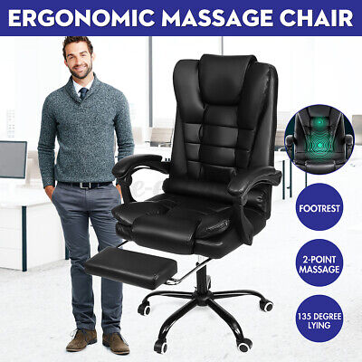 AU130.75 • Buy Executive Massage Office Chair Computer Gaming Chairs High Back Swivel Recliner