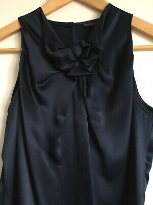 AU59 • Buy Carla Zampatti Navy 100% Silk Top - As New Condition - Size 6