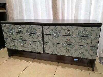 Antique Chest Of Drawers Up-cycled To Give A Contemporary Look • 0.99£
