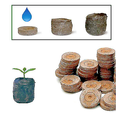 JIFFY 7Pellets 41 X 42 Hydroponics Peat Compost Plug Seed Grow Propagation Coco • 6.99£